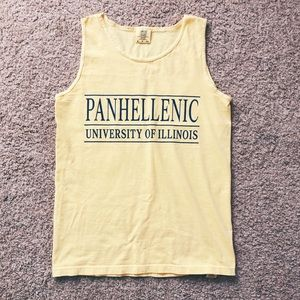 University of Illinois Panhellenic tank top